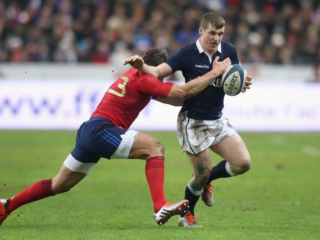 Promising: Mark Bennett impressed in midfield for the Scots