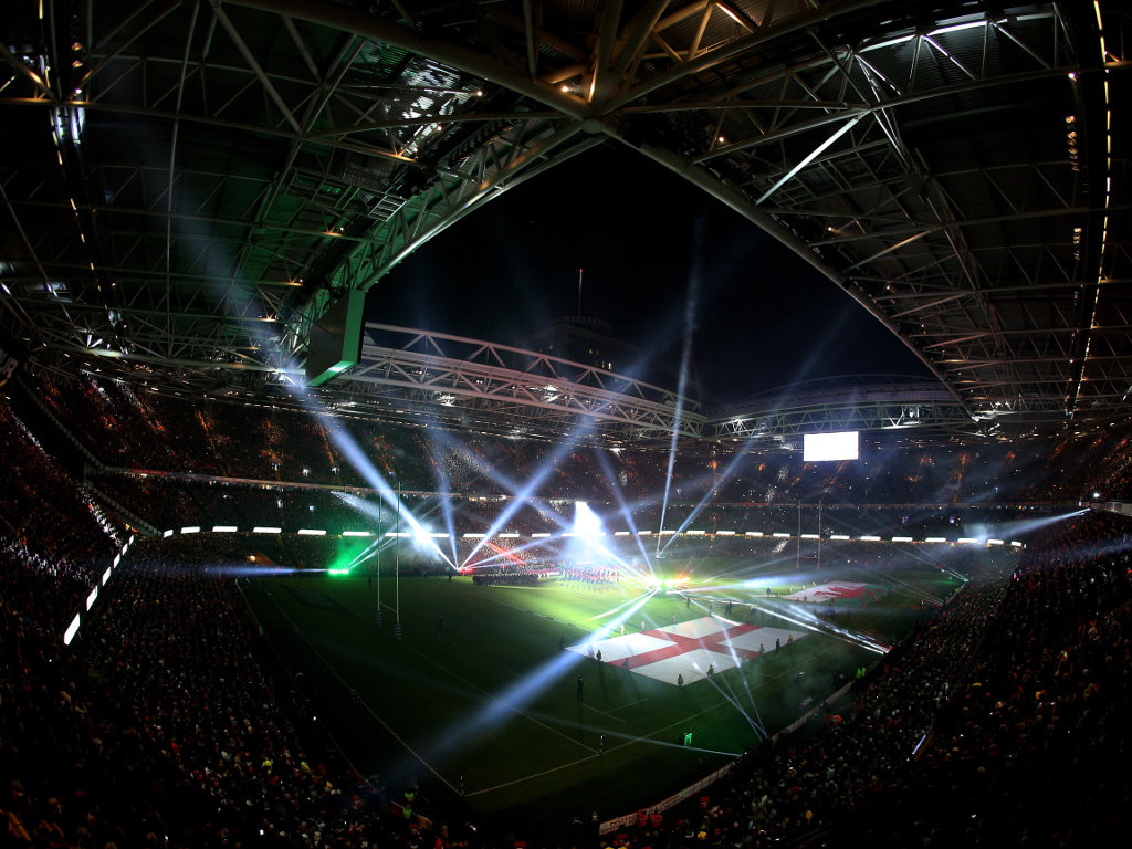 Some light show: Millennium Stadium