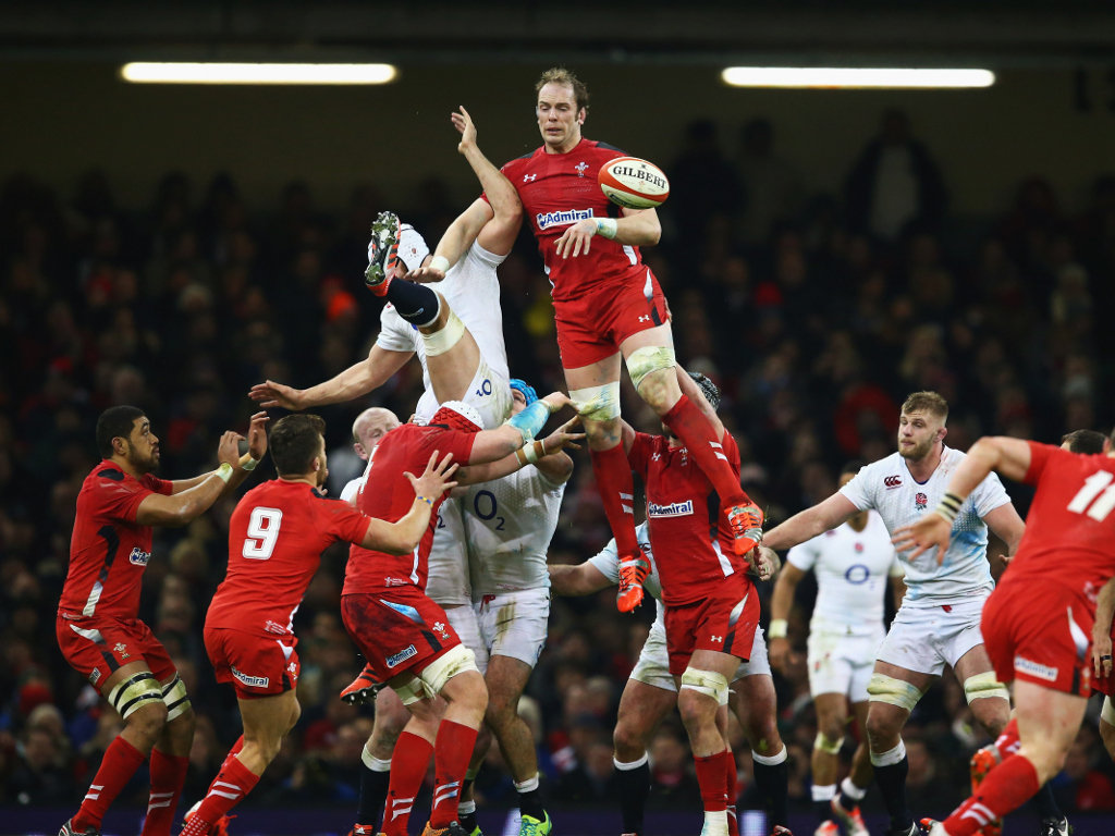 Rising highest: Alun-Wyn Jones