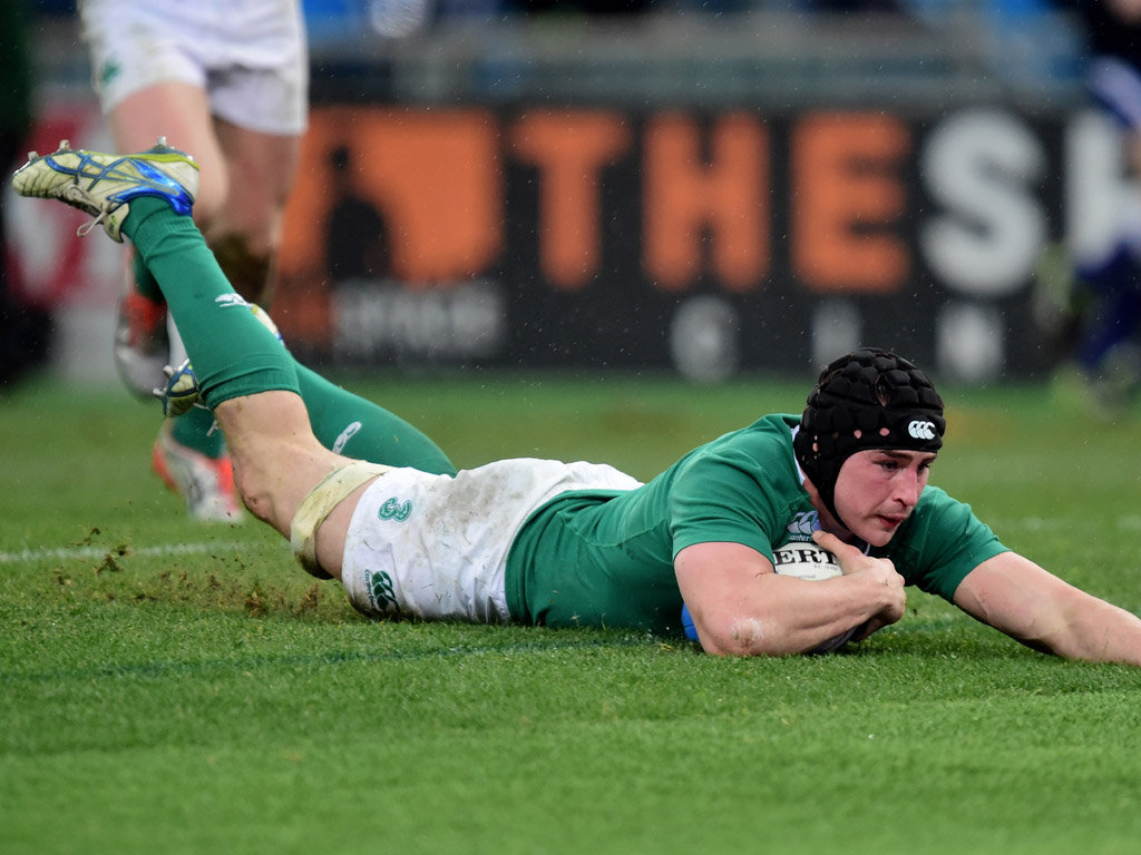 O'Donnell scored Ireland's second try