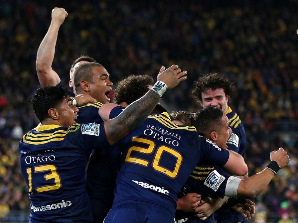 Party time: Highlanders players celebrate