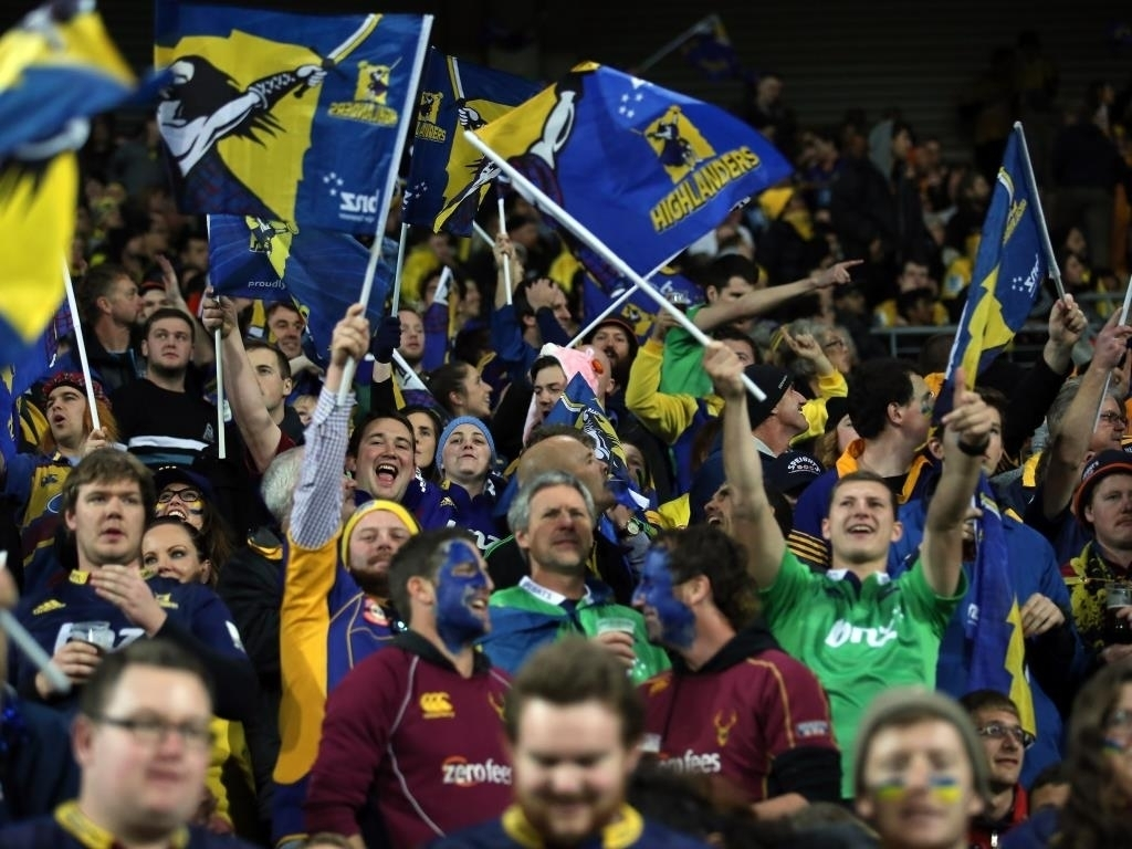 Fervent support: Highlanders fans