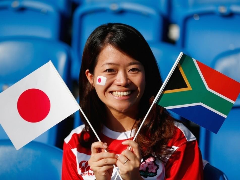 Japan South Africa fan