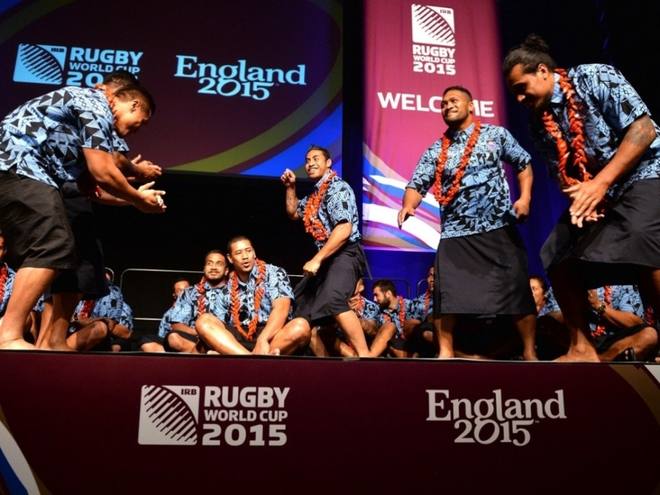 Samoa perform at the welcoming ceremony