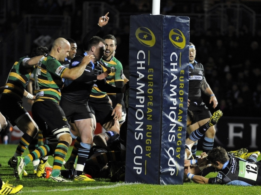 Northampton Saints Made It Two Wins From In The Champions Cup After A 26 15 Victory Away To Glasgow Warriors